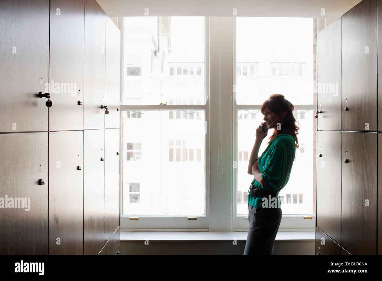 Women in a locker room - Stock Image