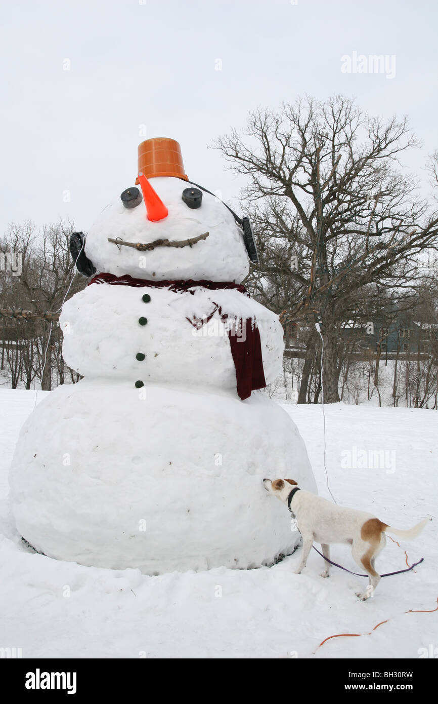 Snowman With Dog Stock Photos & Snowman With Dog Stock Images - Alamy