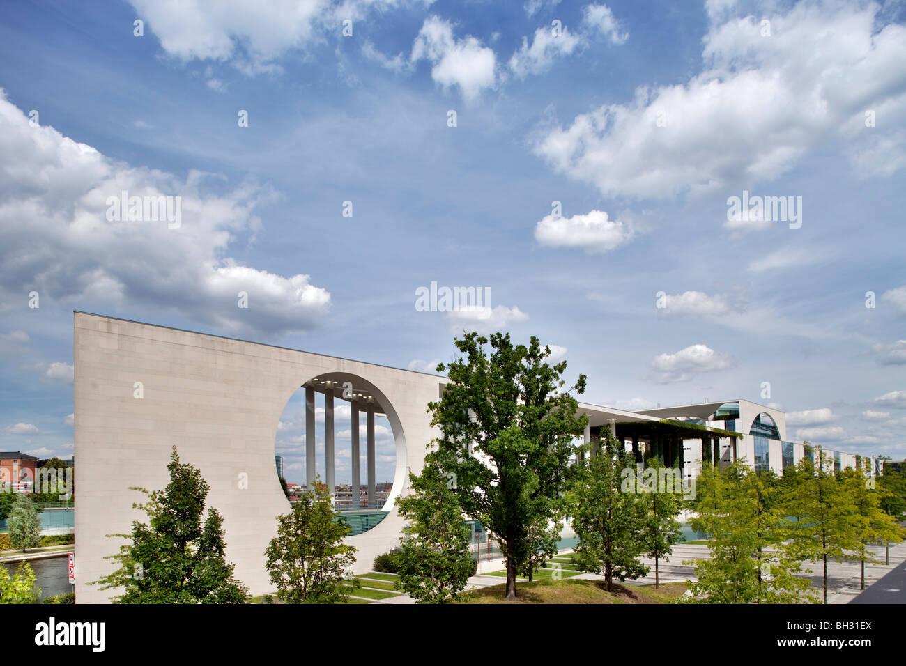 German Chancellery building, Berlin, Germany - Stock Image
