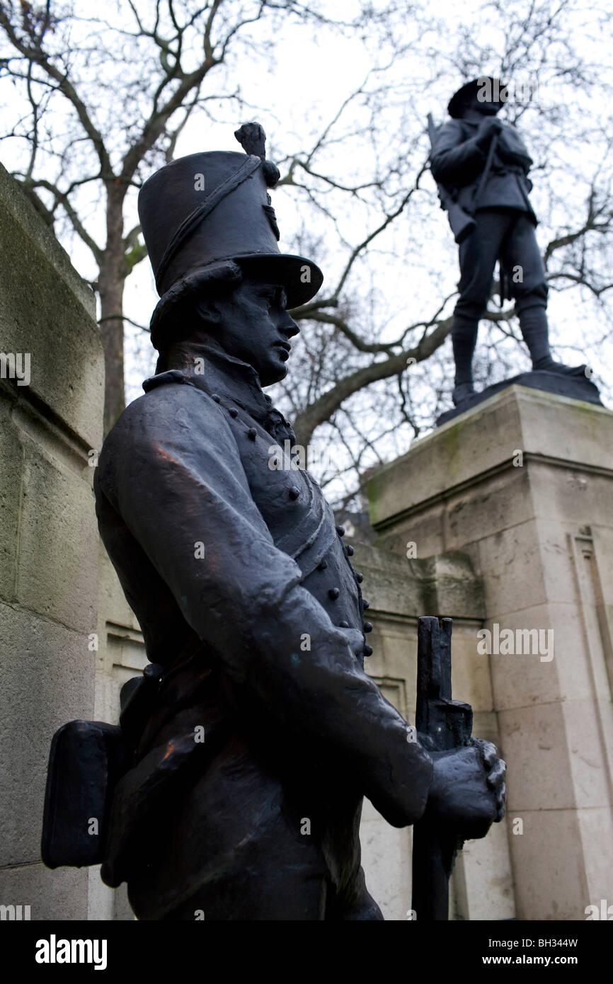 The Rifles Brigade 1914-1918 war memorial in London Stock Photo