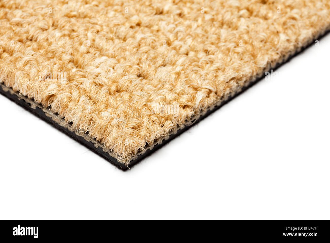 Carpet close up selective focus showing edge - Stock Image