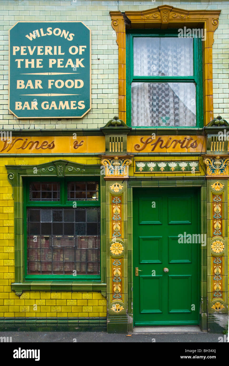 Peveril of the Peak pub exterior Castlefield central Manchester England UK Europe - Stock Image