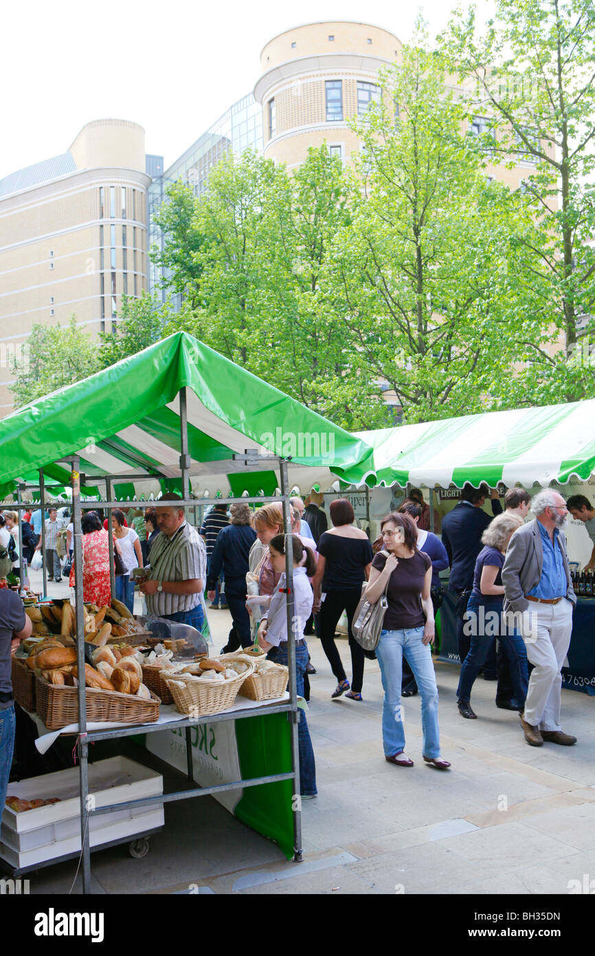 The Farmers Market at Brindleyplace, Birmingham UK - Stock Image