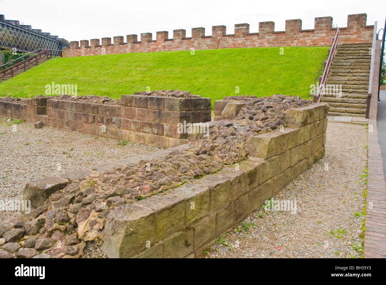 The Roman Granary in Castlefield district Manchester England UK Europe - Stock Image