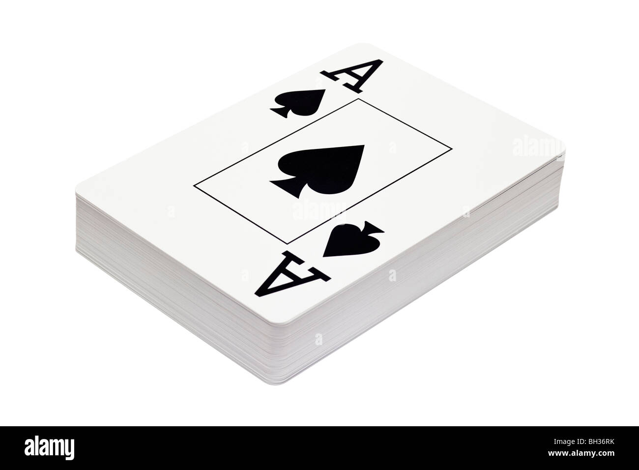 Deck of playing cards face view - ace, aces - Stock Image