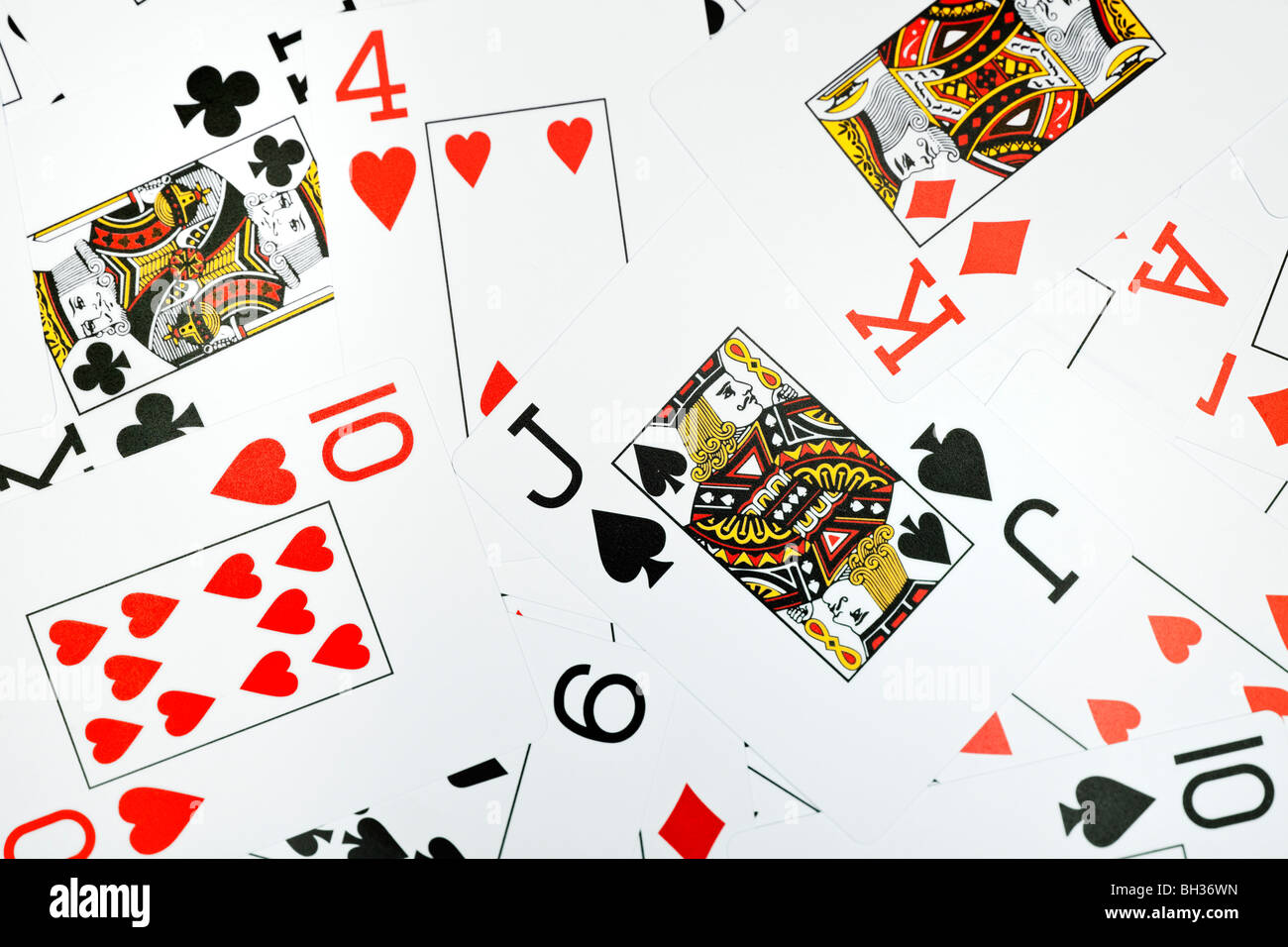 Playing cards, close up - Stock Image