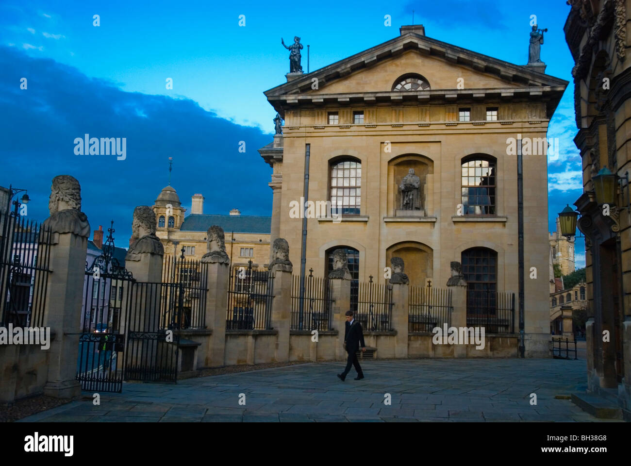 Sheldonian Theatre grounds and Clarendon building Broad st Oxford England UK Europe Stock Photo