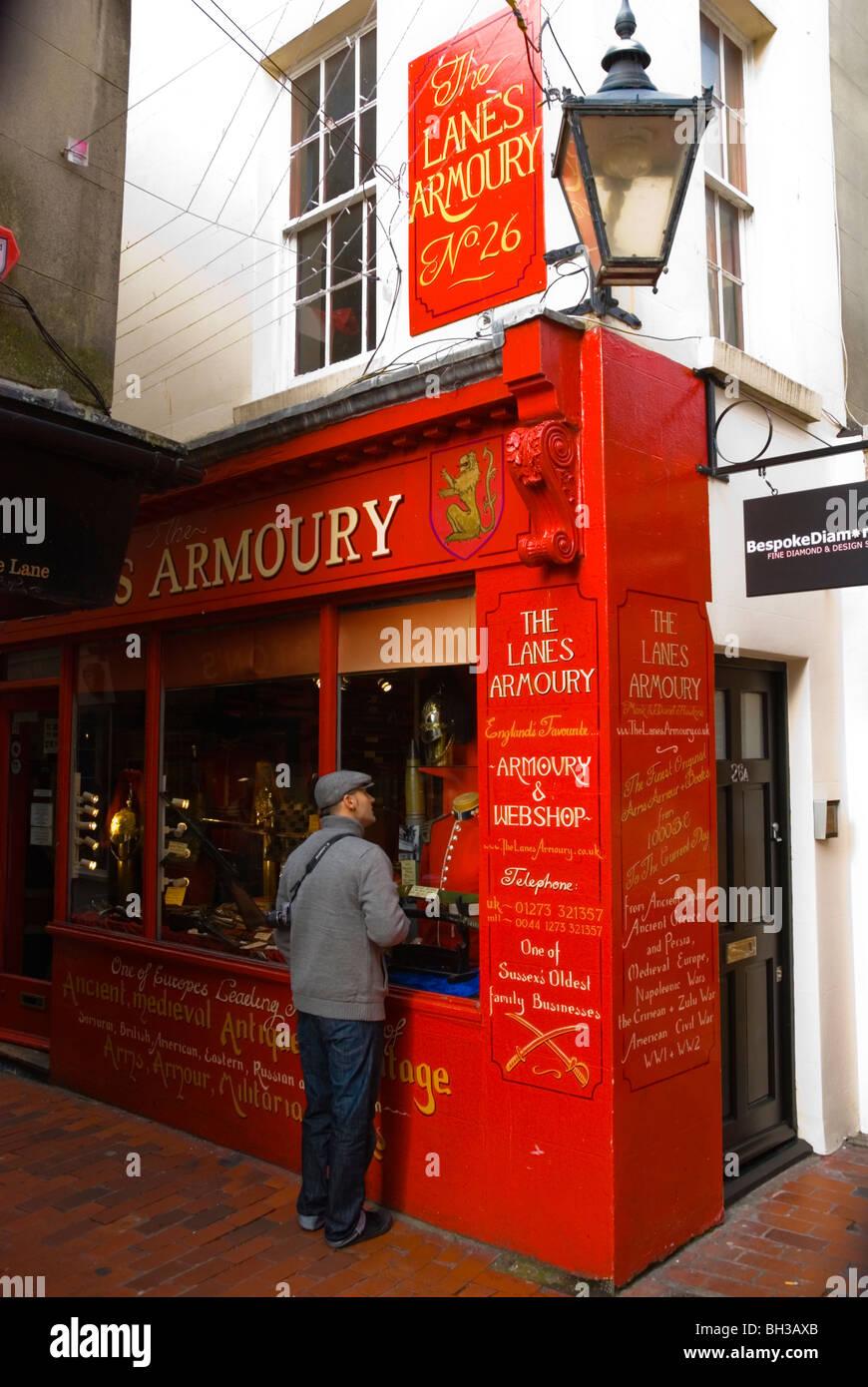 Armoury shop the Lanes central Brighton England UK Europe - Stock Image