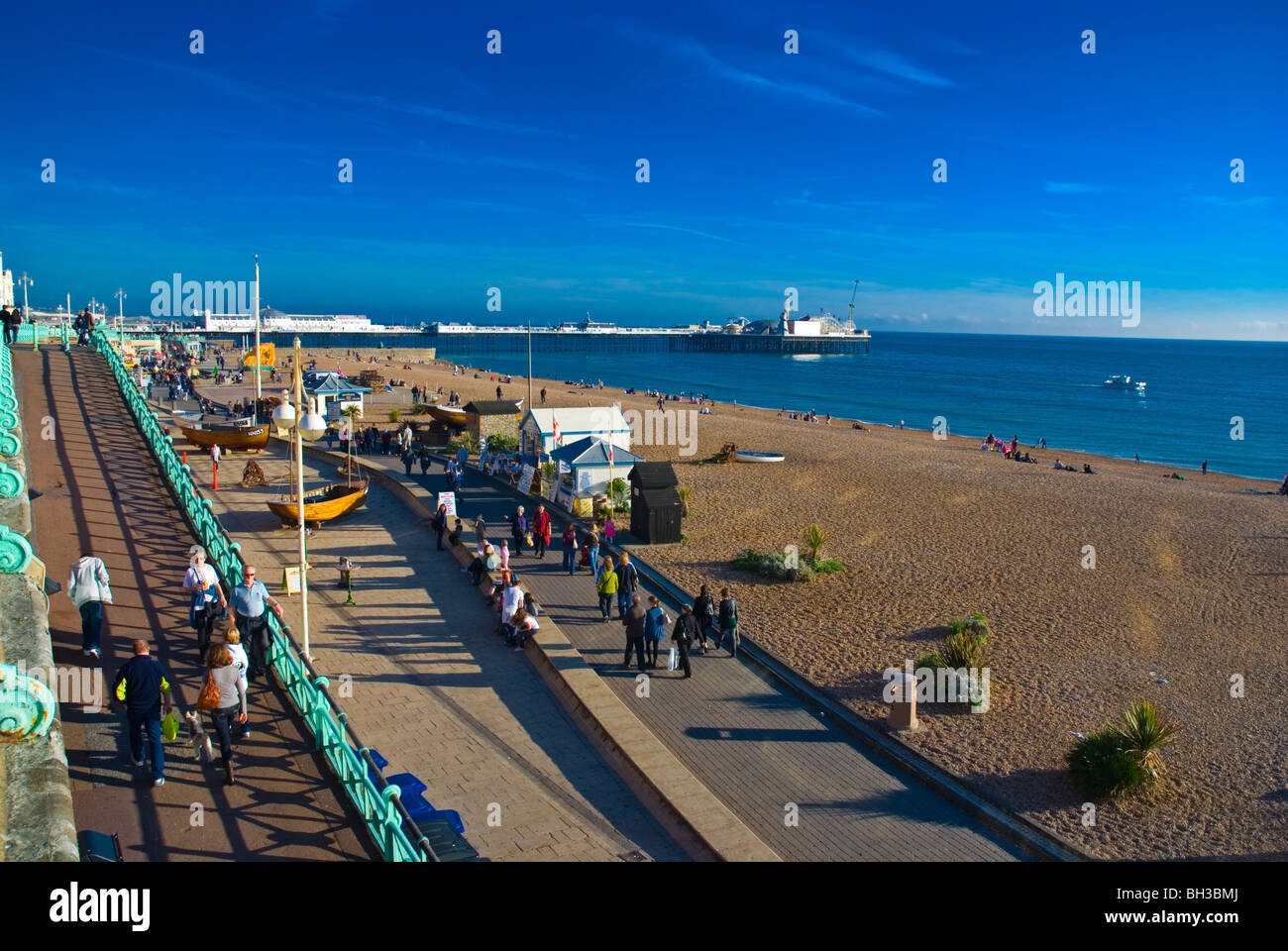 Seafront and King's Road esplanade beach central Brighton England UK Europe Stock Photo