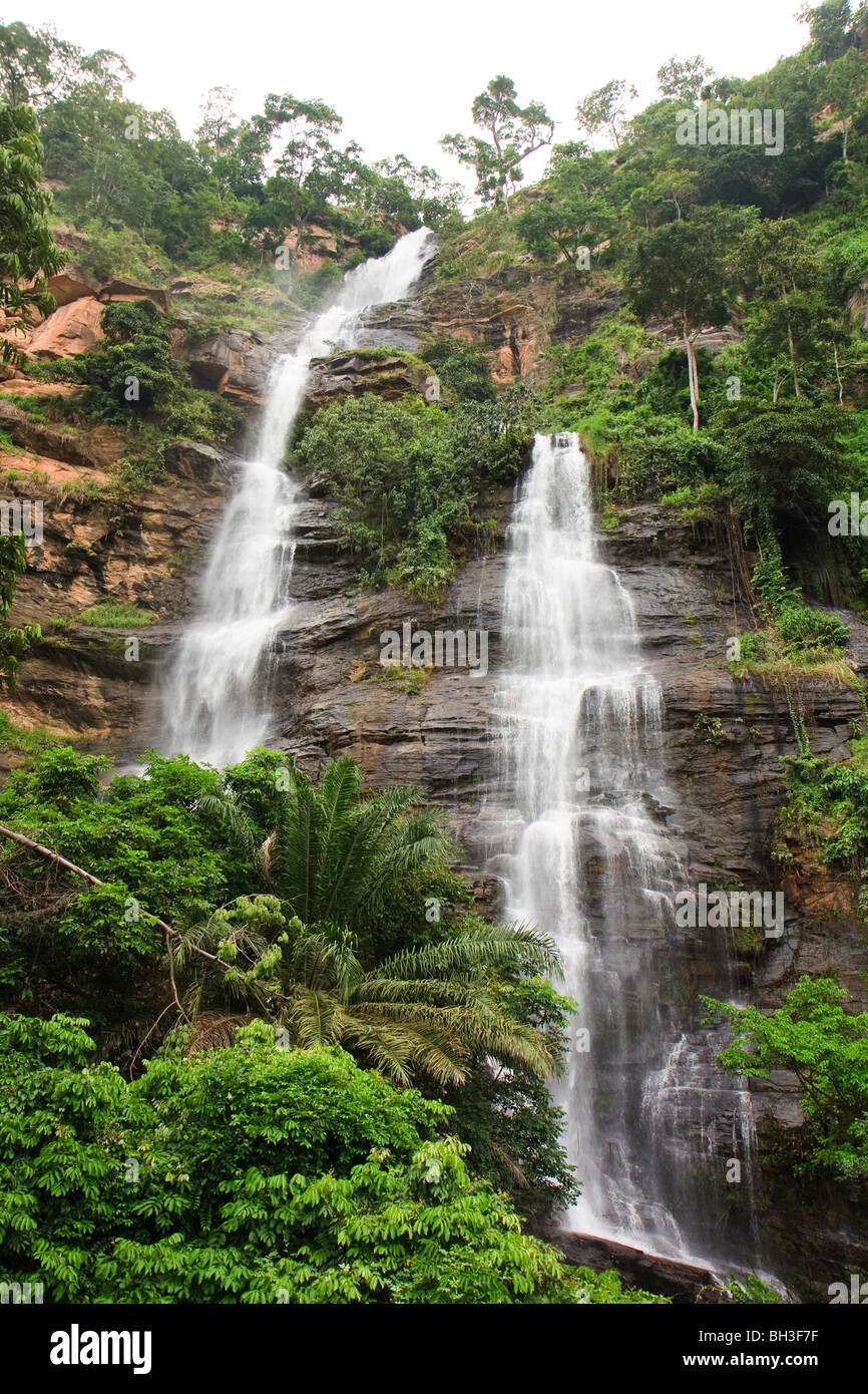 Africa Kpalime Kpime Falls Togo Water Waterfalls Stock Photo