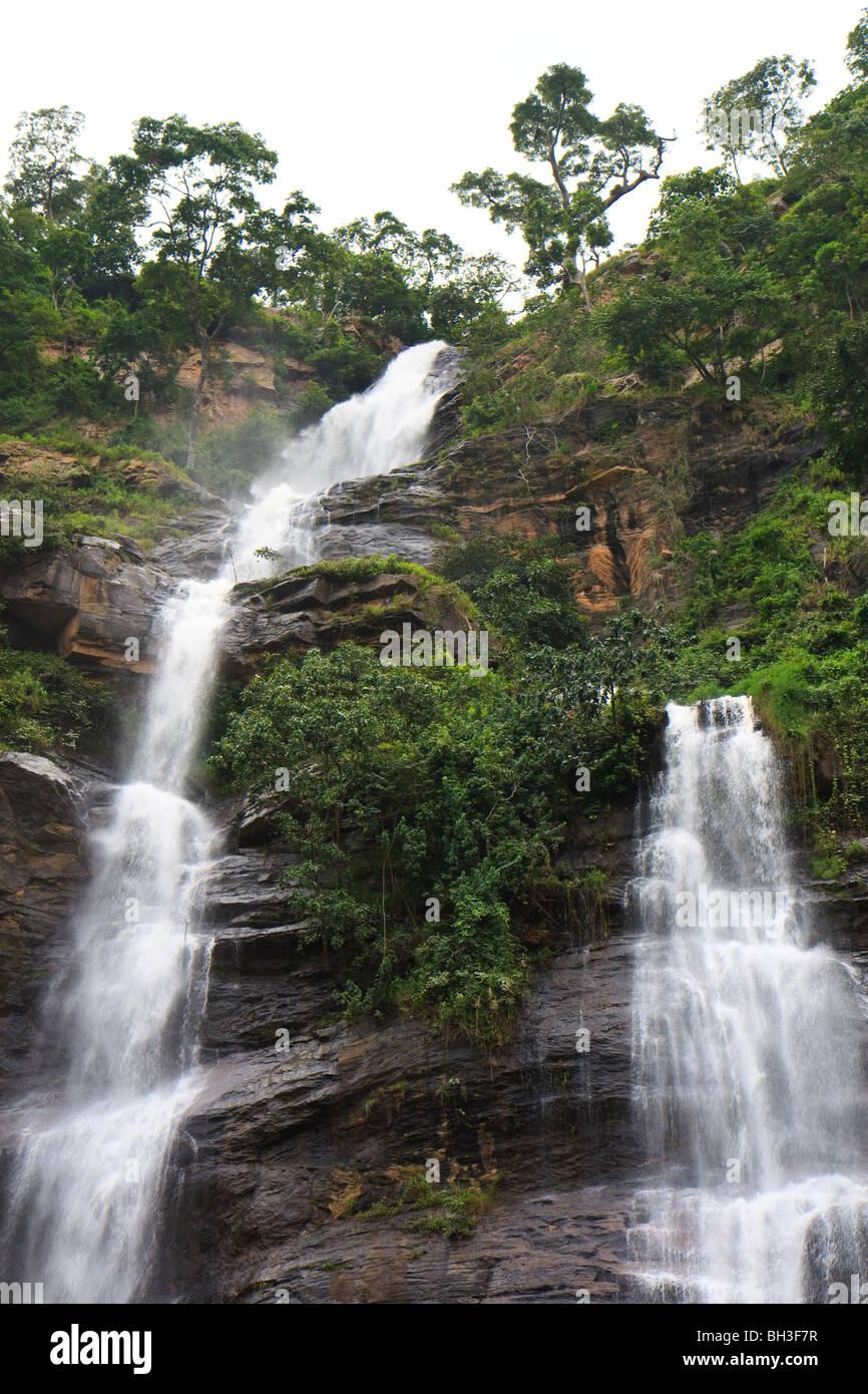 Africa Kpalime Kpime Falls Togo Water Waterfalls Stock Photo