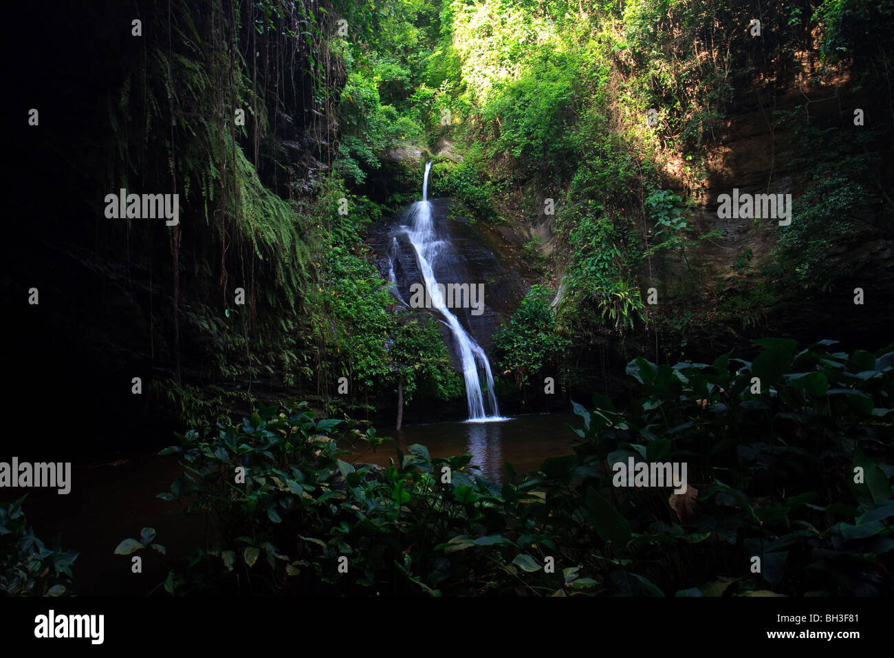 Africa Kpalime Togo Water Waterfalls Wome Falls - Stock Image