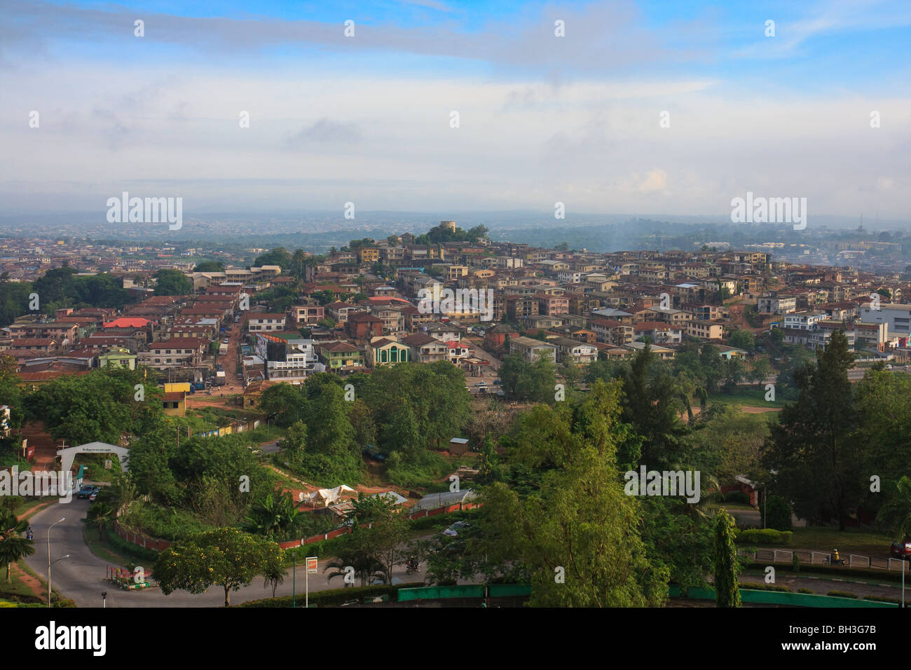 Africa Cityscape Ibadan Nigeria Streets Towns - Stock Image
