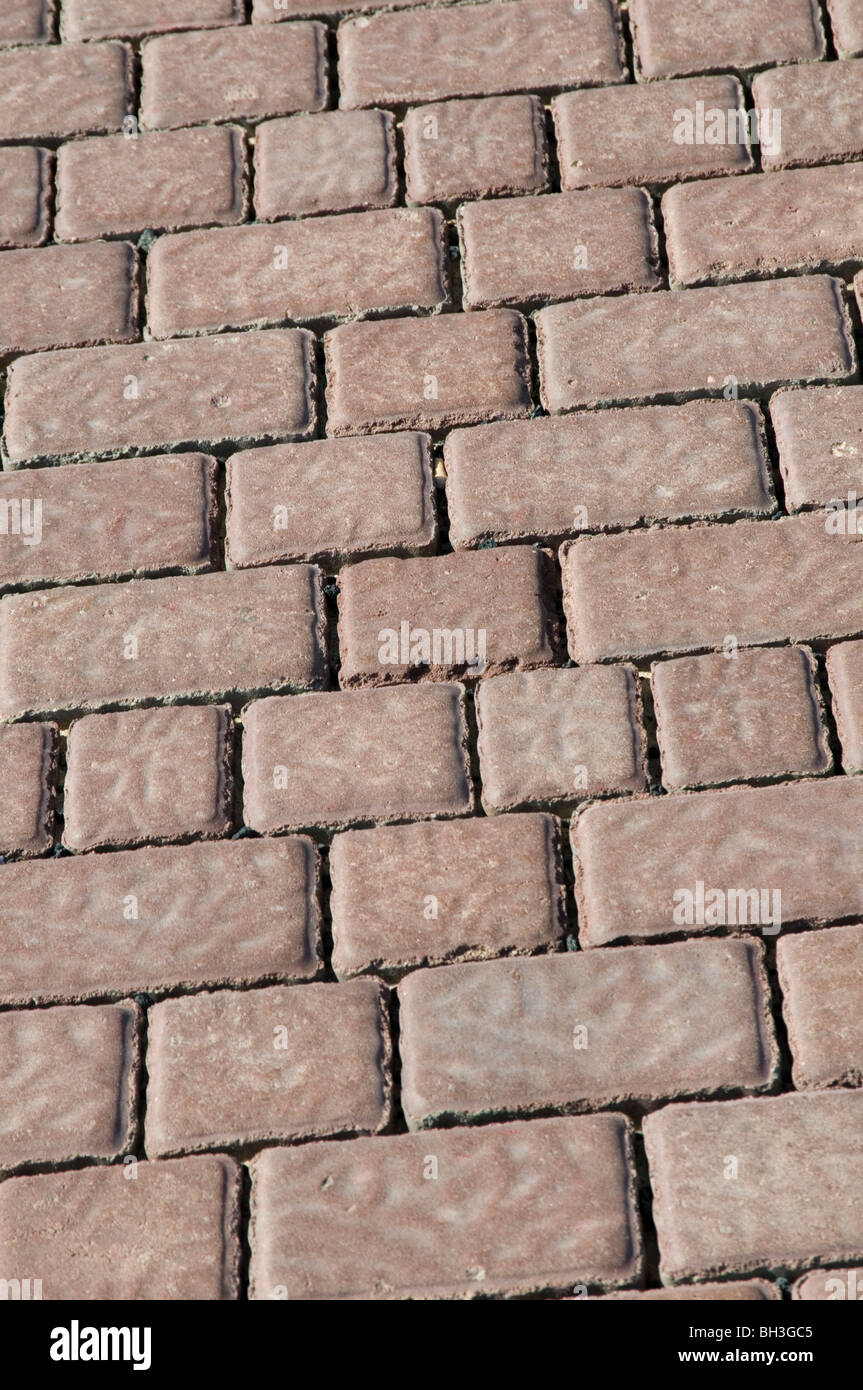 block paving pavement pavements uneven slip trip or fall liability personal personnel no win no fee lawyer lawyers - Stock Image
