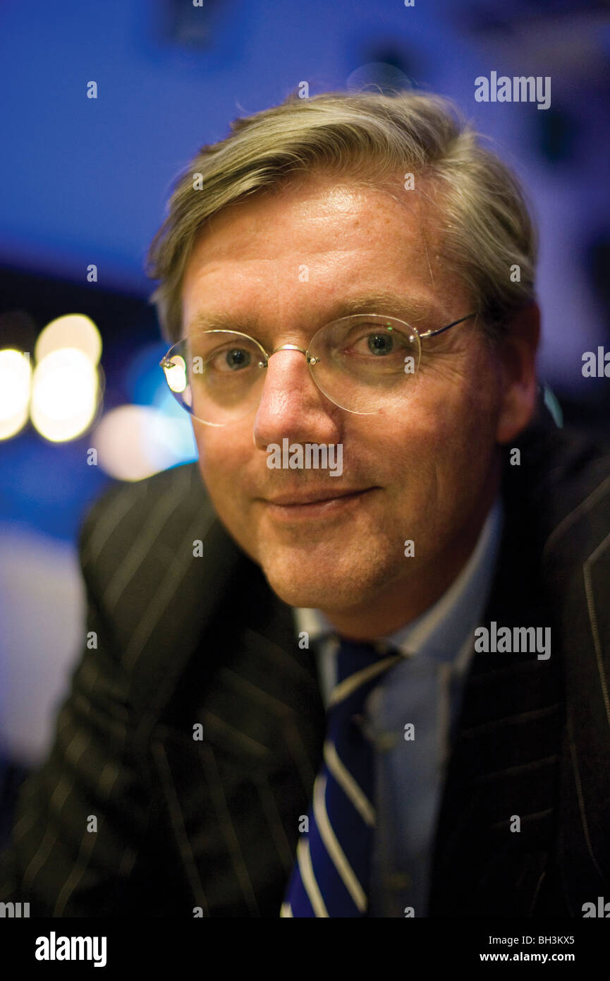 Victor R Muller, CEO Spyker Cars, at interview. - Stock Image