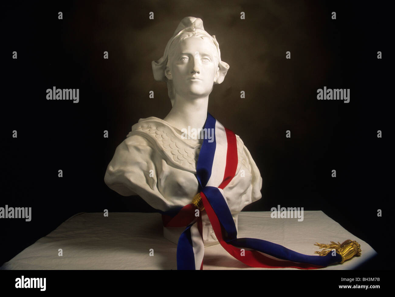 Statue of Marianne, national symbol of the French Republic - Stock Image