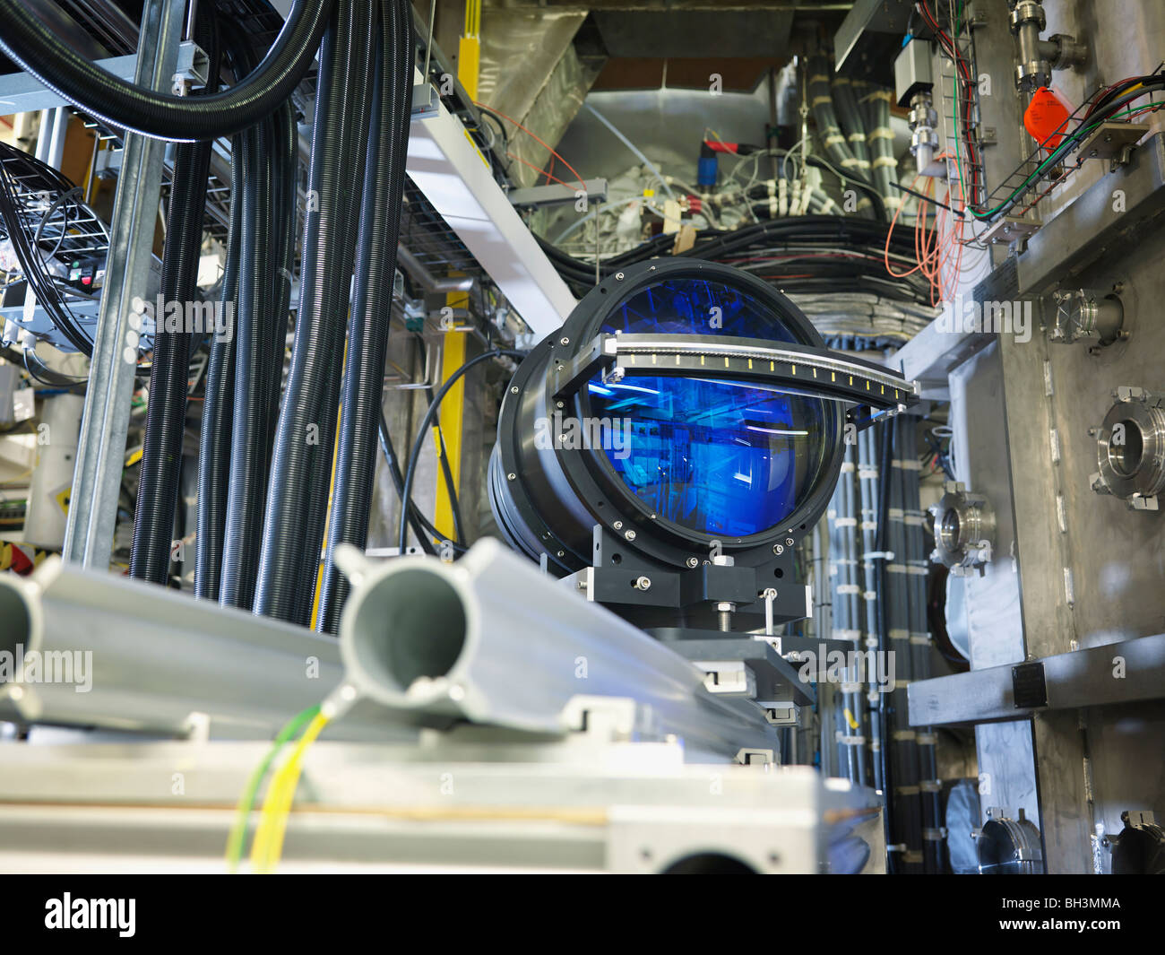Large Lens In Fusion Reactor - Stock Image