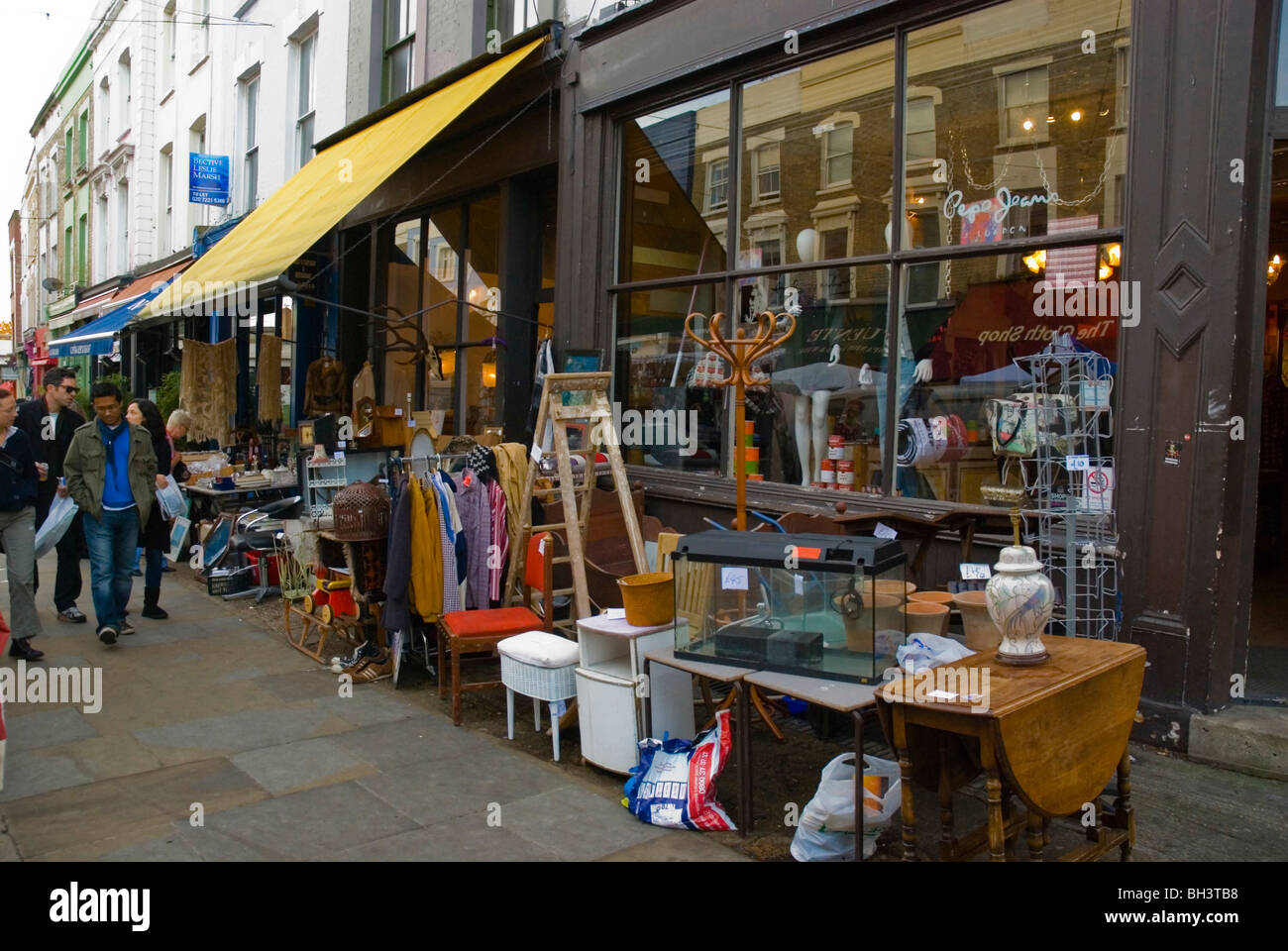 Second Hand Furniture Store Portobello Road Market London England UK Europe    Stock Image