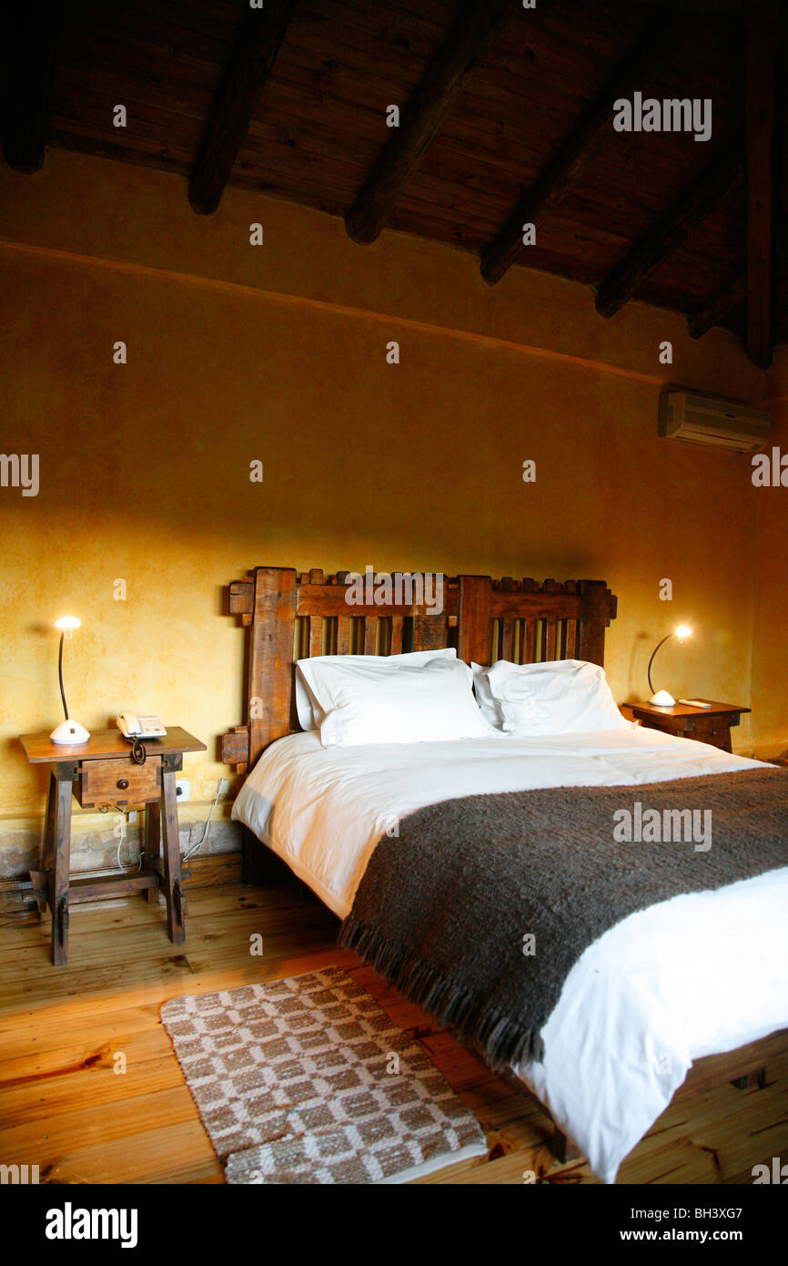 Room at Finca Adalgisa hotel, Mendoza, Argentina. - Stock Image