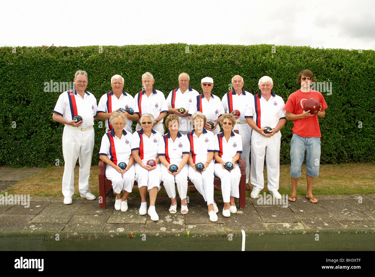 bowls team plus am odd one out Stock Photo