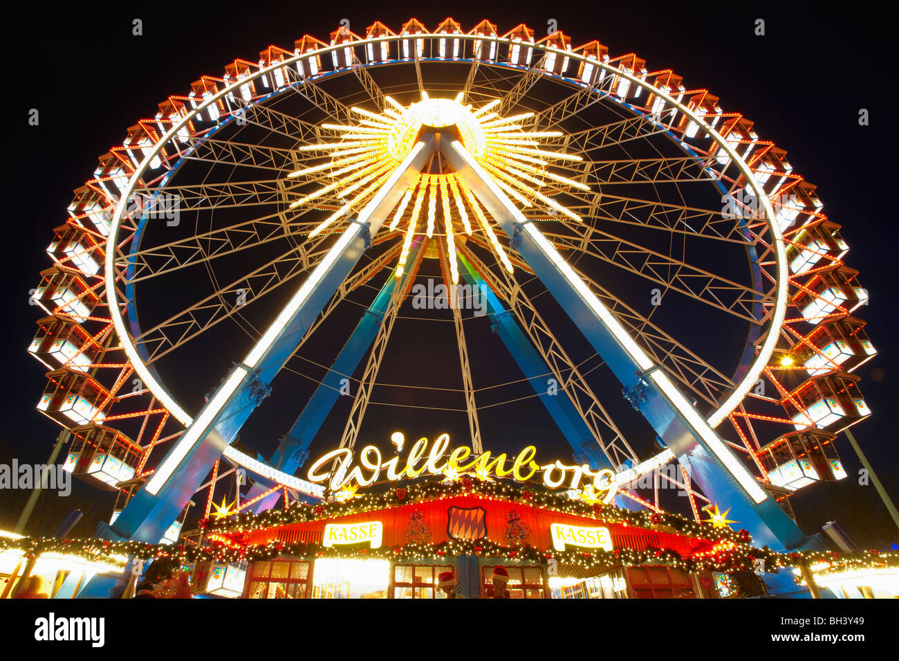Christmas Markets Alexanderplatz Berlin Germany - Stock Image