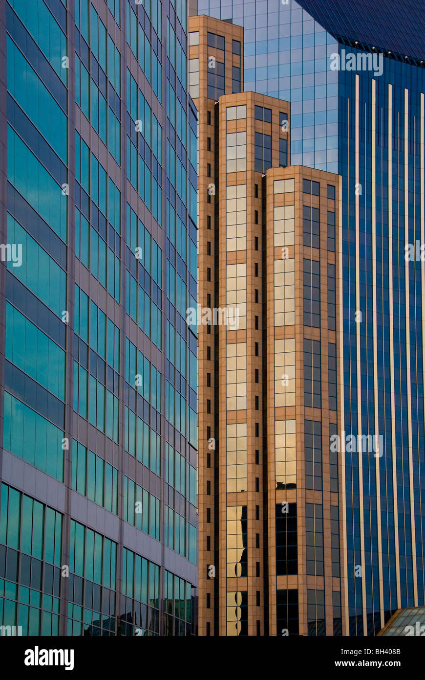 Architecture details of city center buildings in Nashville, Tennessee - Stock Image