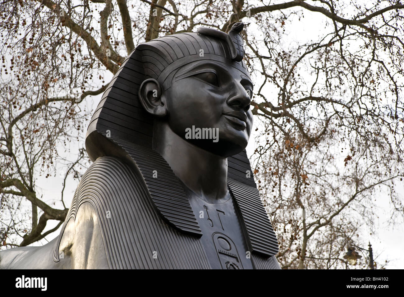 London Embankment Sphynx - Stock Image