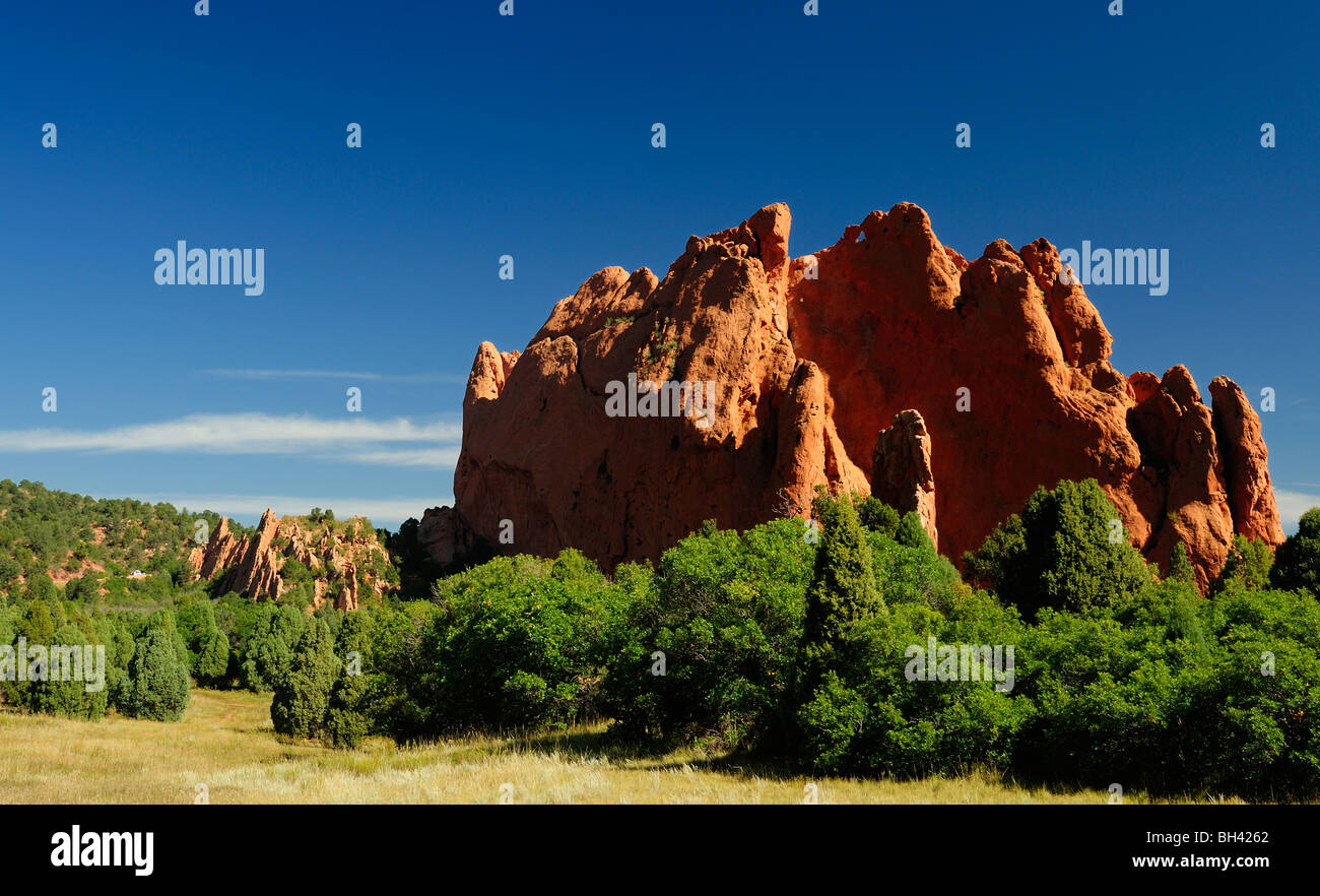 photograph of the garden of the gods - Stock Image