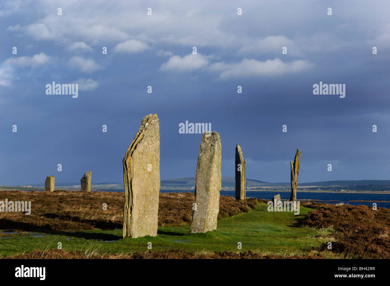 Ring of Brodgar, Orkney Islands - Stock Image