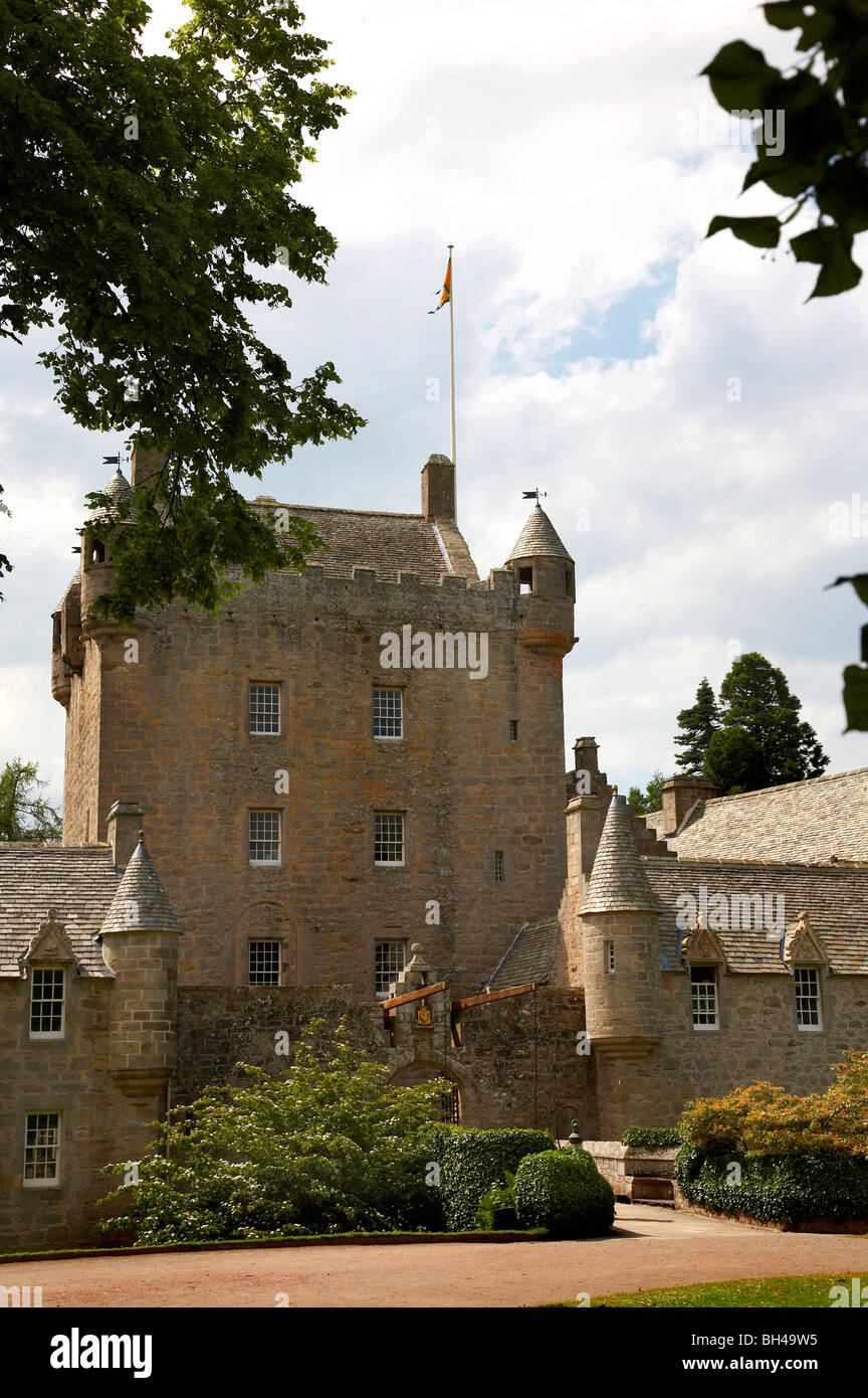 Cawdor castle and gardens in Nairn. - Stock Image