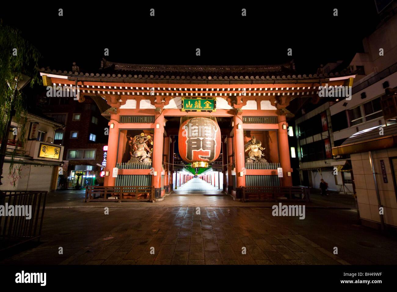 Asakusa Buddhism Honshu Japan Temple Tokyo - Stock Image