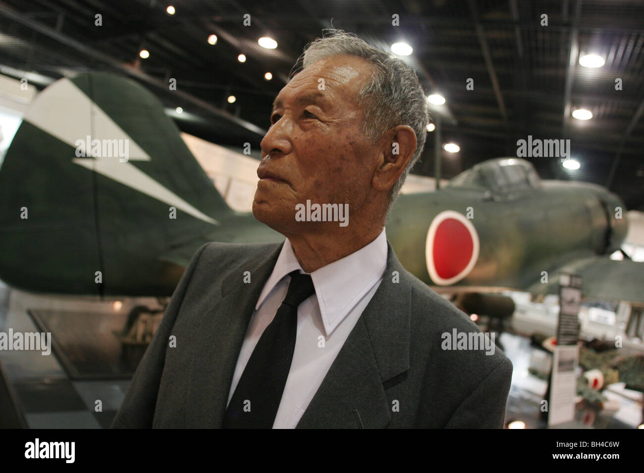 Shigeyoshi Hamazono, 81 years old, 'kamikaze' pilot in the Japanese Special Attack Force during WW2, in - Stock Image