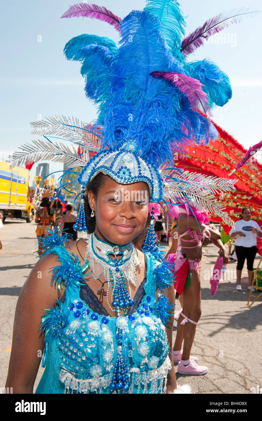 Young girl in costume for the Caribana Festival Parade, Toronto