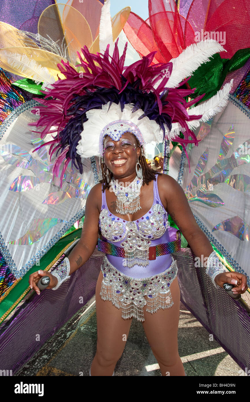 Woman in costume for the Caribana Festival Parade, Toronto