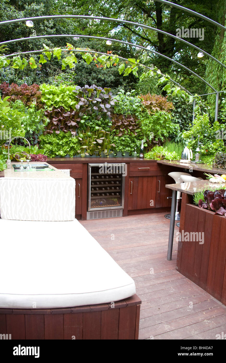 outdoor kitchen fridge patio outdoor rhs chelsea flower show 2009 outdoor kitchen fridge seating and entertaining area