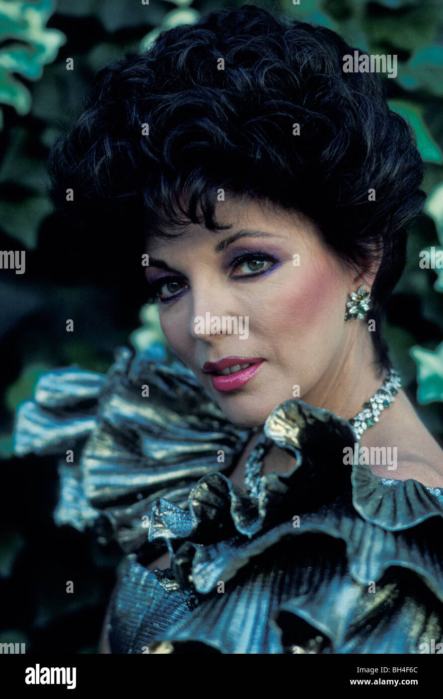 TV star Joan Collins, Alexis character in Dynasty in Hollywood, California - Stock Image