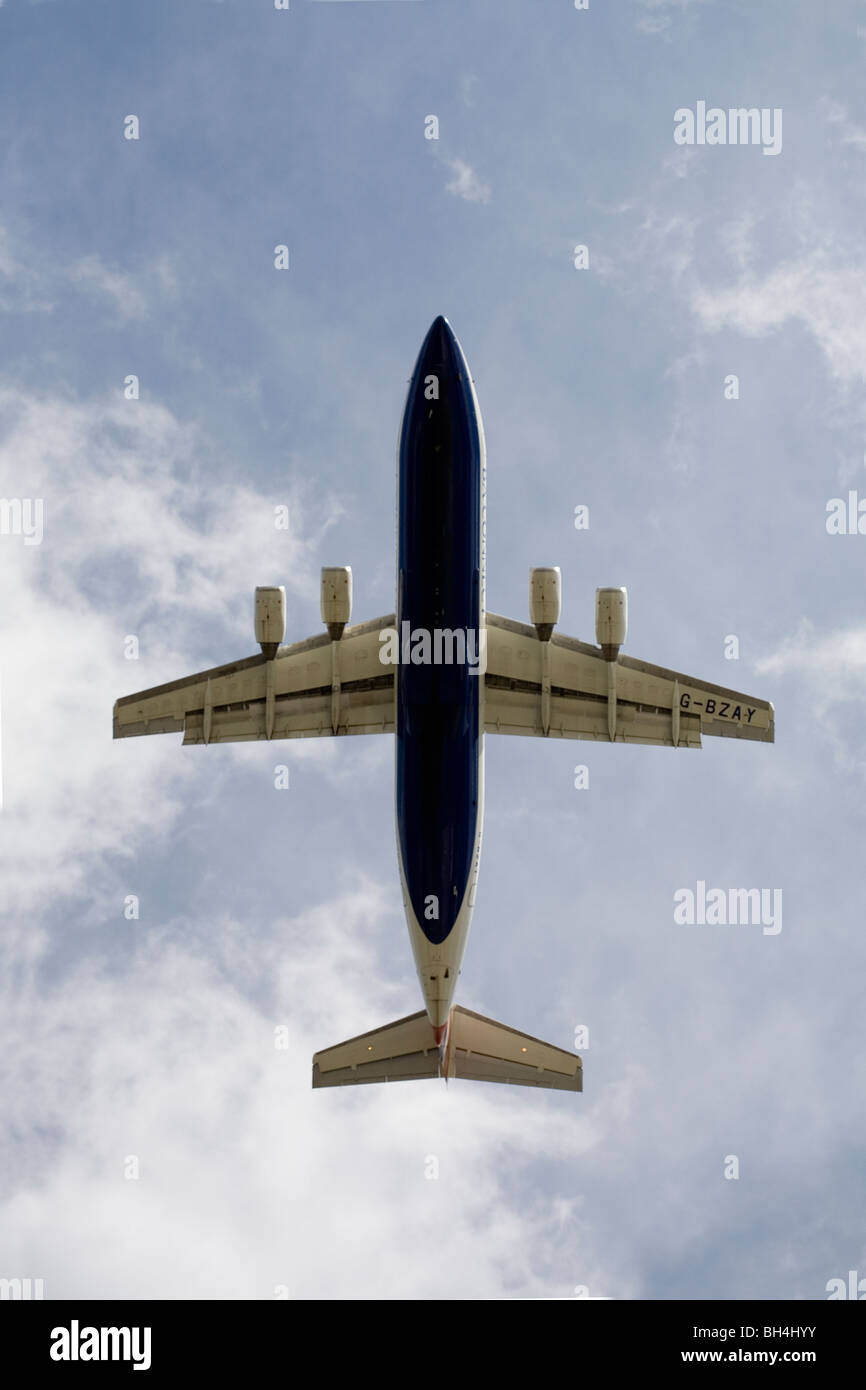 belly of an aeroplane airplane - Stock Image