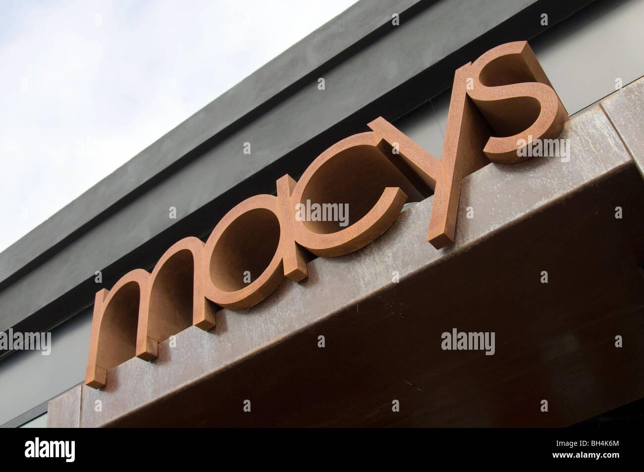 macys department store stores shop store logo brand branding brands - Stock Image