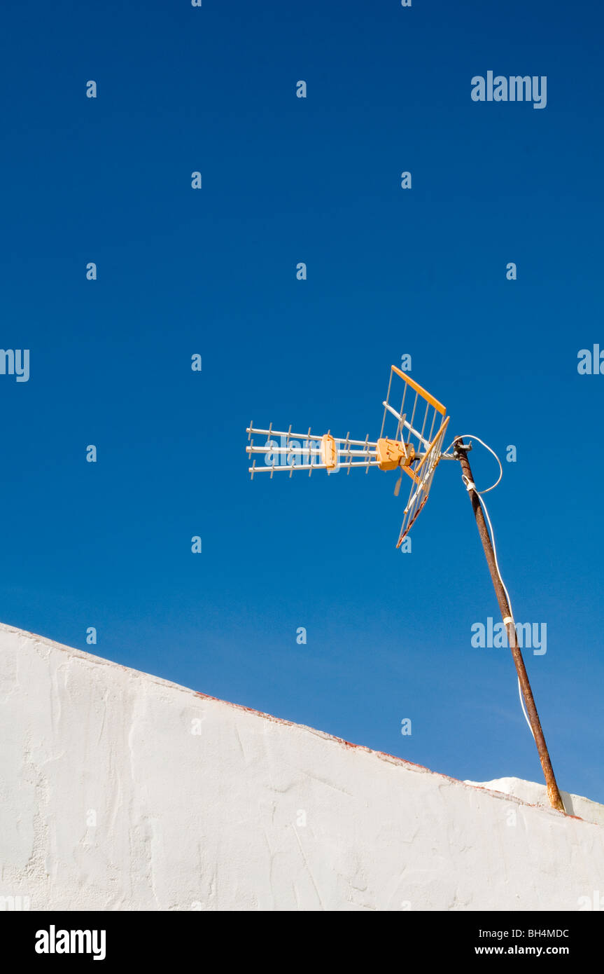 digital tv aerial television aerials switchover switch over aerials tele televisions reception broadcast broadcasting - Stock Image