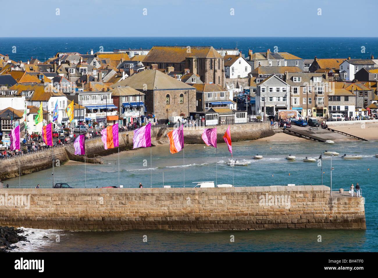 The popular seaside resort of St Ives, Cornwall Stock Photo