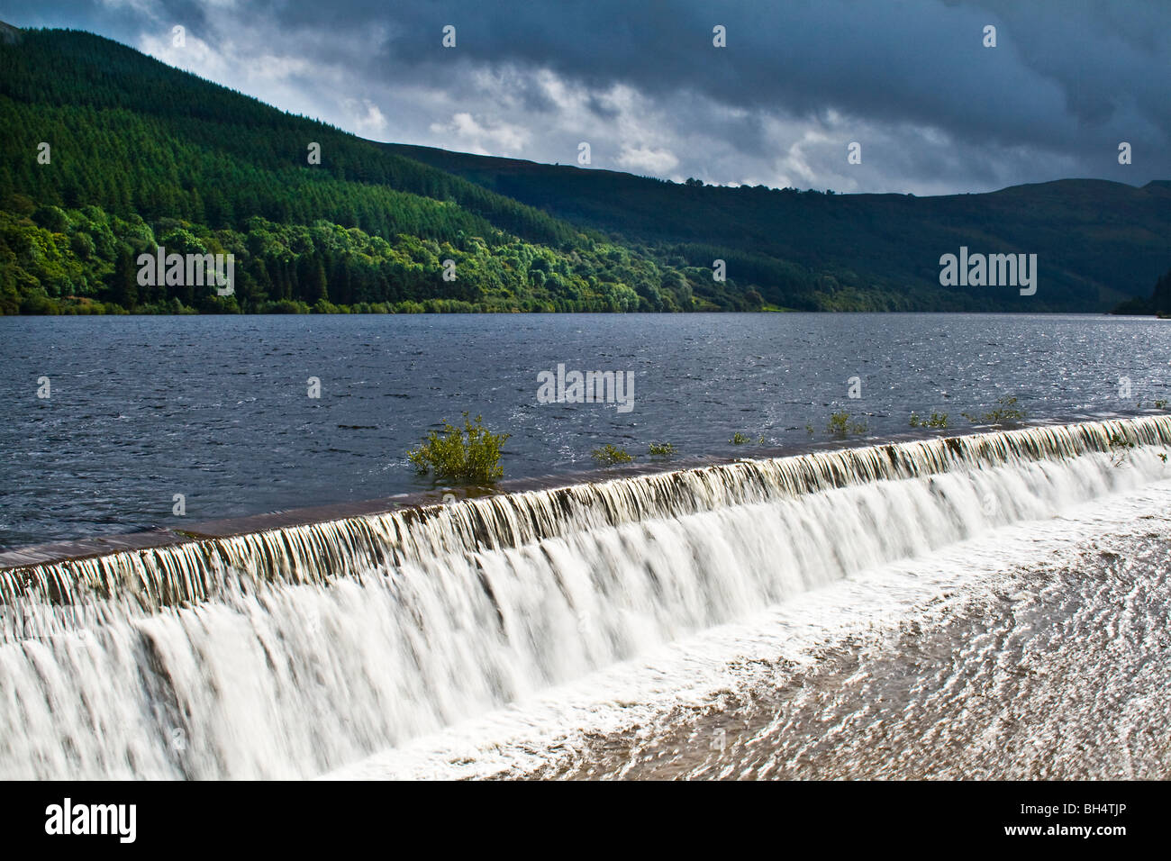 Talybont Reservoir near Talybont-on-Usk in the Brecon Beacons. - Stock Image