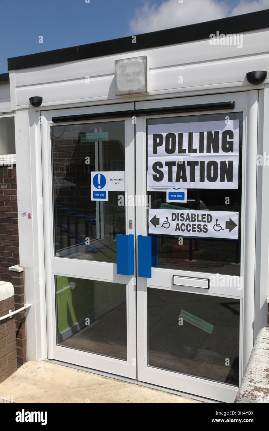 A Polling station, England - Stock Image