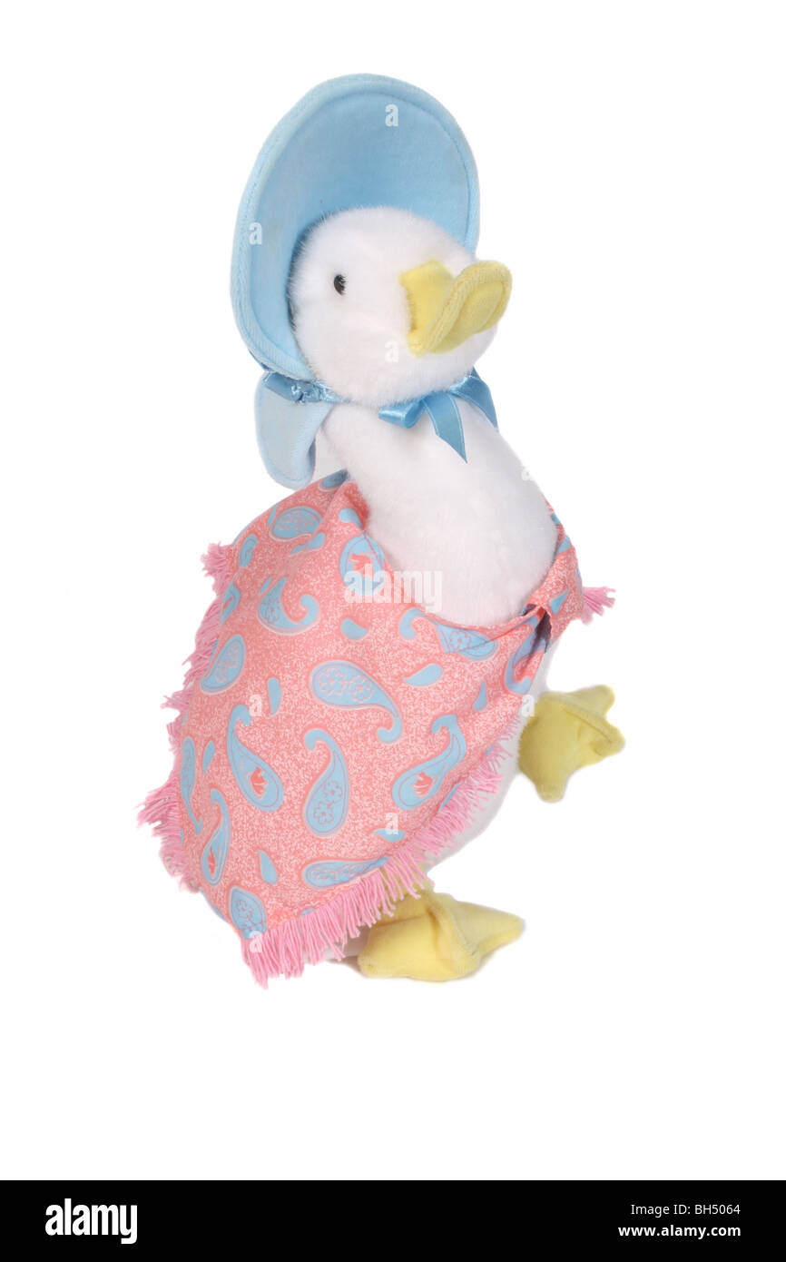 Jemima Puddle-Duck from the children's books by Beatrix Potter. - Stock Image