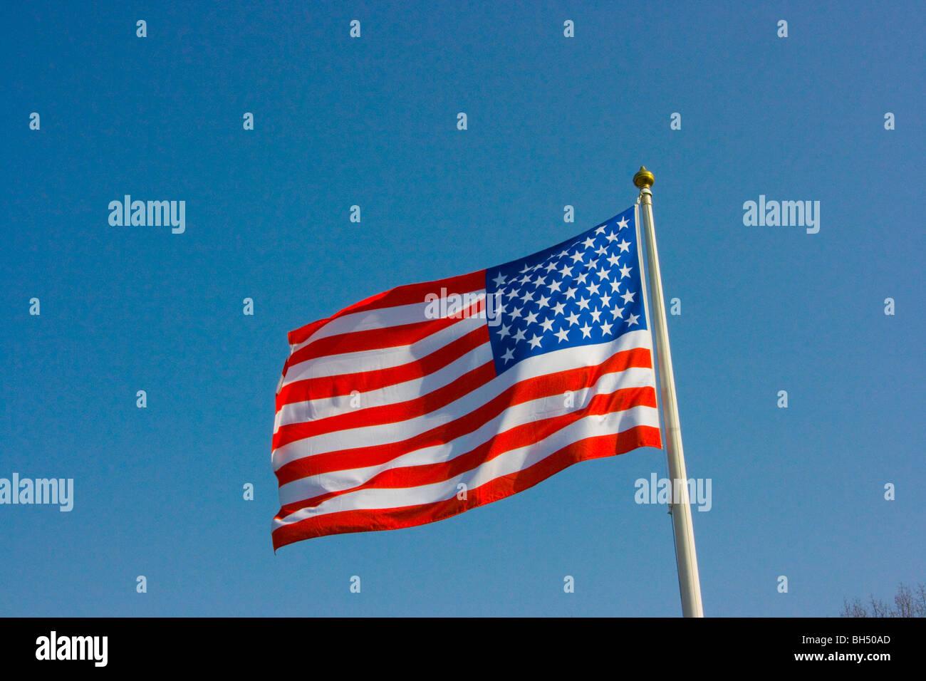 Stars and Stripes USA flag - Stock Image