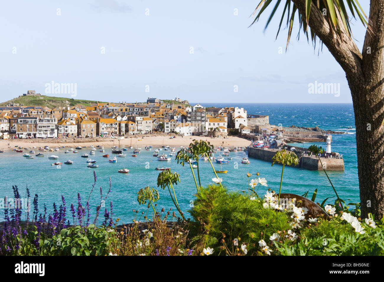 The popular seaside resort of St Ives, Cornwall - Stock Image