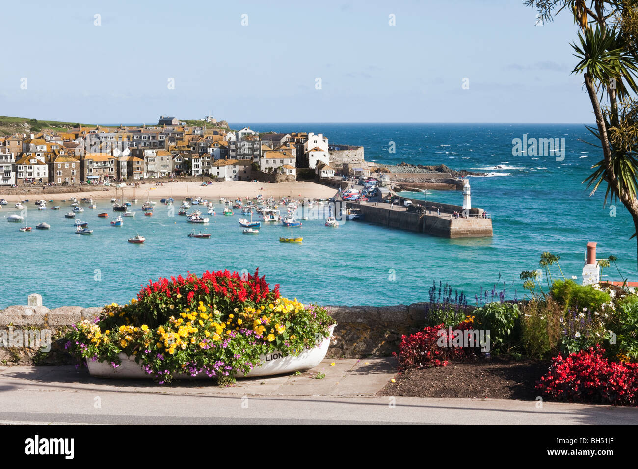 The popular seaside resort of St Ives, Cornwall - Stock Image