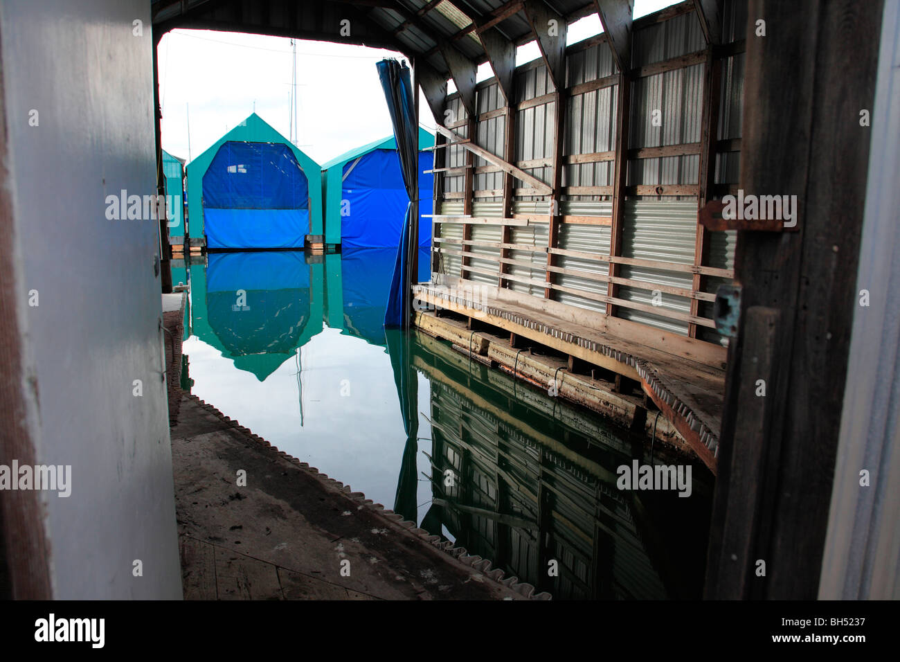 boat houses - Stock Image