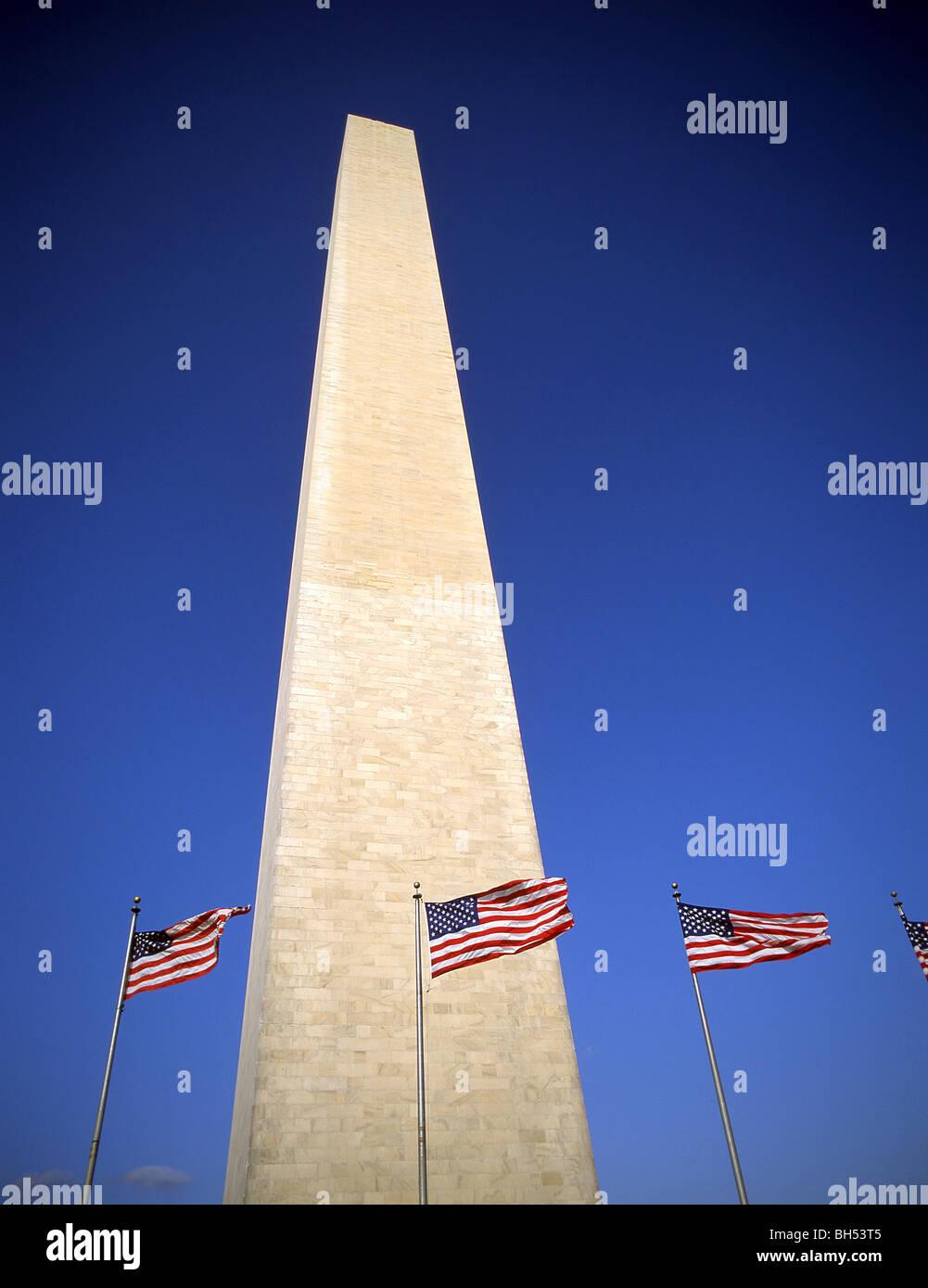 Washington Monument, Washington DC, United States of America - Stock Image