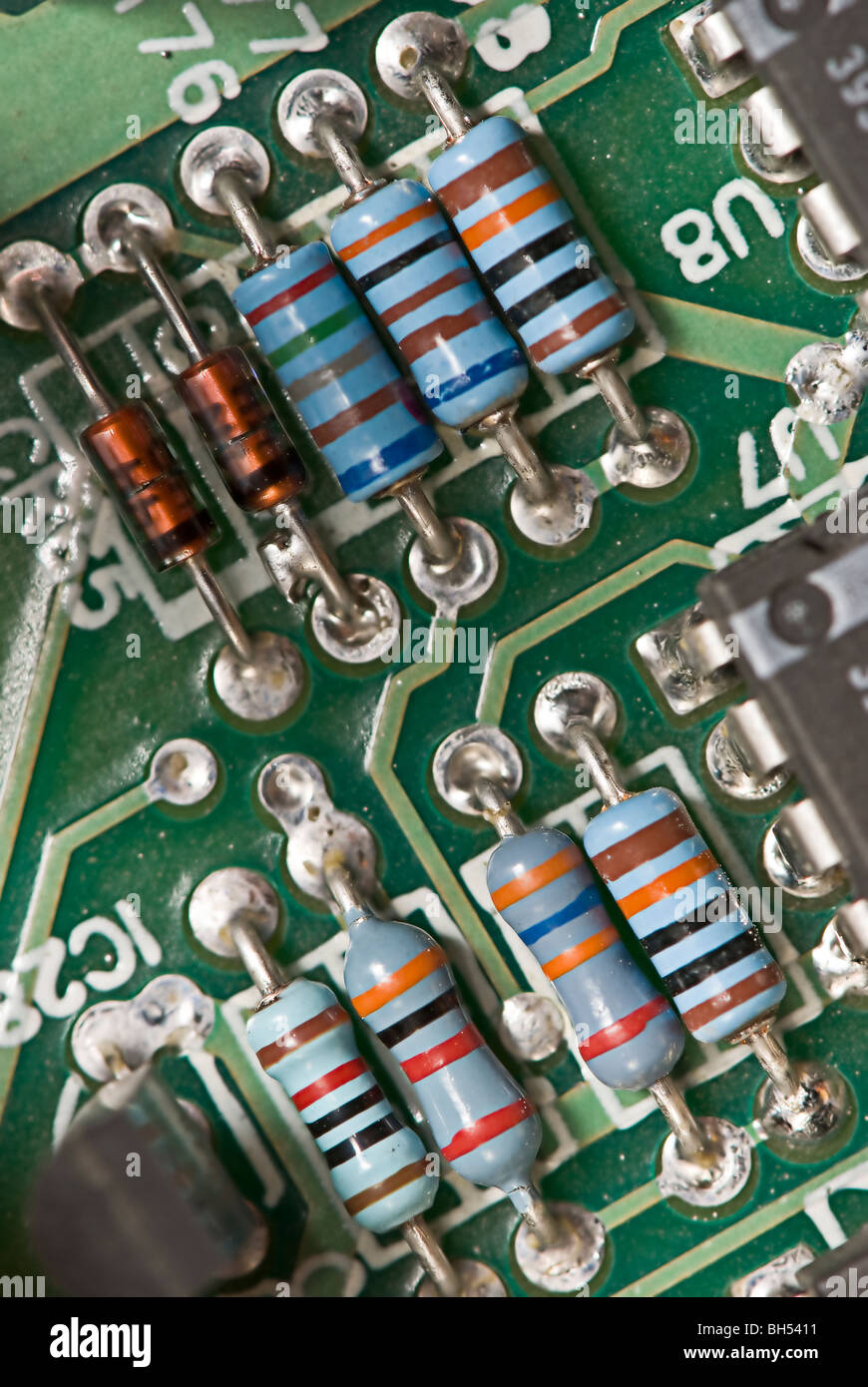 Electronic Components Box Stock Photos Printed Circuit Board Repairs Any General Industrial Electrical On A Image