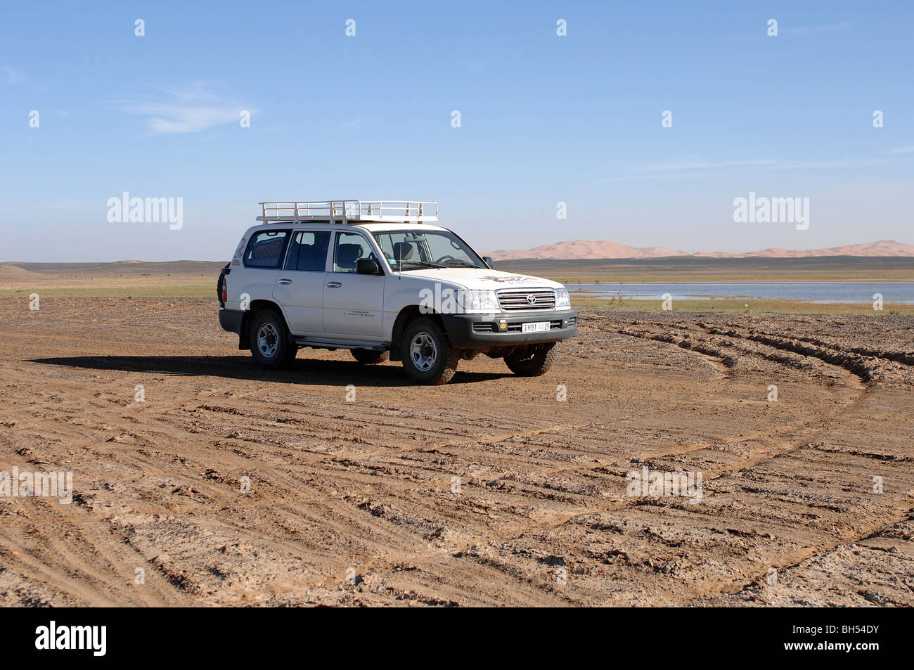 Offroad in the Sahara Desert - Stock Image